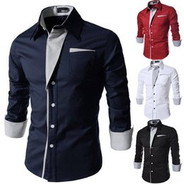 c4362685431 Luxury Men Shirts Stylish Smart Casual Dress Shirt Slim Fit Shirt Long  Sleeve Formal Shirts Tops