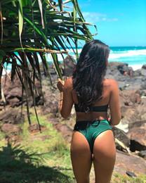 2019 coolsten bikinis Neue Kollektion aus zweiteiligem Badeanzug, sexy einfarbigem Bikini mit Brustschleife, hochwertigem und elastischem geteilten Badeanzug. So sexy und cool rabatt coolsten bikinis