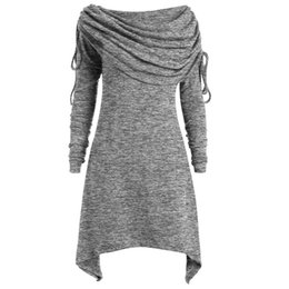 Canada Plus La Taille 5XL Automne Party Dress Femmes Vêtements 2018 Élégant Solide À Manches Longues Dames Robes D'hiver Vintage Robe Vestidos cheap elegant winter clothes for women Offre