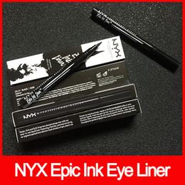 Косметика для макияжа nyx онлайн-Макияж глаз NYX Epic Ink Liner nyx Черный Карандаш для Глаз Карандаш с Глазками Макияж Жидкий Черный Цвет Подводка Для Глаз Водостойкая Косметика бесплатная доставка