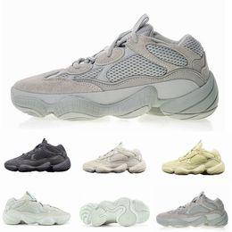Scarpe da tennis pvc online-2019 Nuovo Salt Wave Runner 500 Blush Desert Rat 500 Super Moon Giallo Scarpe da corsa Kanye West Mens Donna Sneaker Scarpe sportive