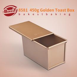 einweg-kuchen dosen Rabatt BAKEST 450g Aluminiumlegierung Golden Toast Brotlaib Backform Rechteckige Kuchenform
