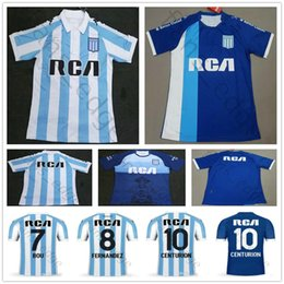9ebe7a19fcc15 19 20 Racing Club de Avellaneda Camisas De Futebol 7 BOU 8 FERNANDEZ 10  CENTURION Personalizar 2019 Casa Azul Camisa De Futebol Branco Uniforme  Uniforme ...