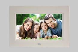 2019 fotos mp4 7 pulgadas marco de fotos digital hd álbum de fotos electrónico ultra-delgado pantalla lcd portátil foto de la boda marco de regalo digital fotos mp4 baratos