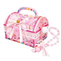 Per bambini fai da te creativo creativo angelo tesoro scatola adesivi diamante ragazza gioielli scatola giocattoli educativi per bambini da cosmetici naturali fornitori