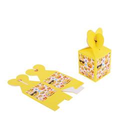Детские подарочные коробки для душа онлайн-6 Шт. / Компл. Бумажный Подарочный Пакет Emoji Украшения День Рождения Emoji Конфеты Сумка Baby Shower Мальчик Девочка Праздничные Атрибуты Popcorn Box