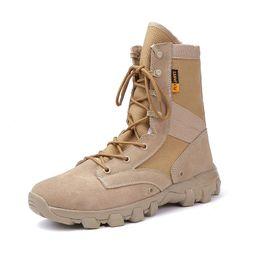 Brand Outdoor Men Hiking Scarpe famose Desert High-Tactical Boots Forze speciali da uomo Sport Tactical Camping Shoes da