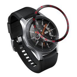 Adhesivo de bisel online-Moda Para Samsung Galaxy Watch 42 MM / 46 MM / Gear S3 Frontier Bisel Anillo Cubierta Adhesiva Reloj Inteligente Accesorios Anti Scratch Metal