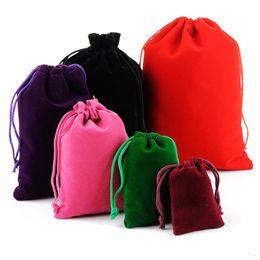 carteras de brocado Rebajas Ribbon Black Velvet Bags Fit Beads Charms and Bracelets Collares Joyas Moda Colgante Bolsas Bolsas Mezclar Tamaños