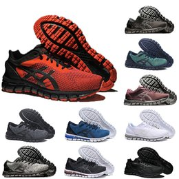 Argentina Gel Asics gel De calidad superior GEL-QUANTUM 360 KNIT 2 SHIFT Hombres Zapatillas de running Rojo Triple Negro Metal Blanco Bronce Plata Ocre Zapatillas de deporte Corredores cheap asics men shoes Suministro