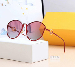 woman polarized glasses Coupons - designer sunglasses luxury sunglasses Brand Fen0335 for Woman Fashion designer Glass Driving UV400 Adumbral with Elegant shape 5Colors