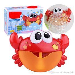 Maquina sopladora online-Baby Bubble Toy Cangrejo Bubble Blower Machine Bubble Maker con rima infantil Bañera Juguetes para bebés bebés Niños Happy Tub Time