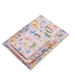 Ordenar mariposas online-Mariposa impresión bolsa para mujer Bolsa de desgaste Bolso del presente paquete Precioso plástico Ultraligero Ultra delgado Orden de ensayo colorido 4yy C1