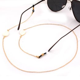 wholesale reading sunglasses Promo Codes - Unique Shell Beads Gold Silver Chain Eyeglasses Chains Reading Glasses Rope Sunglasses Strap Cord Holder Neck Band Accessories