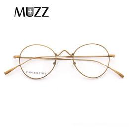 Muzz occhiali cornice per le donne eyewear chiaro occhiali lenti moda occhiali cerchio donne attempati rotonde miopia ottico da lenti 43mm fornitori