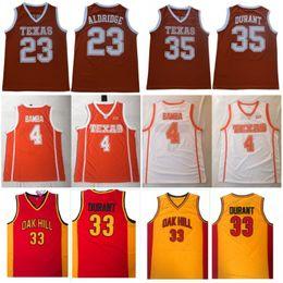 Texas Longhorns 35 Durant LaMarcus Kevin Aldridge 23 Mohamed 4 Bamba College Basketball Maglie Durant Oak Hill High School di cucito Jersey da giallo uniforme di pallacanestro verde fornitori