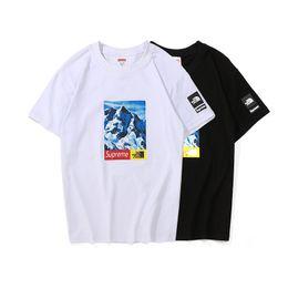 T shirt schnee online-CF 7701 Schneeberg SUPRE T-Shirt bb Kurzarm O-Ausschnitt TEE Kanye West Brief drucken Sportwear Großhandel Männer Frauen