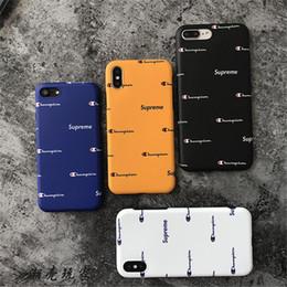 Casos de patrones online-Funda para iPhone X XS MAX XR Moda Mejor Campeón SUP Patrón Letra inglesa Funda de silicona para iPhone 7 8 6 6S plus