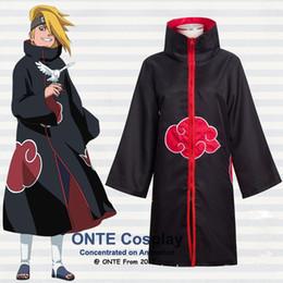 plus größe naruto kostüme Rabatt akatsuki itachi Anime Naruto Cosplay Kostüme Akatsuki Itachi Umhänge Deidara Robes Plus Size Kleidung für die Halloween-Party-XS - 5XL