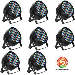 2019 luz de escenario de alta potencia láser Nuevo Venta 54X3W RGBW impermeable al aire libre de la lámpara Par LED IP65 DMX512 Profeesioal la etapa del disco de DJ Equipo