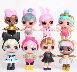9CM LoL Bambole con biberon American PVC Kawaii Giocattoli per bambini Anime Action Figures Realistic Reborn Dolls per ragazze 8 Pz / lotto giocattoli per bambini da