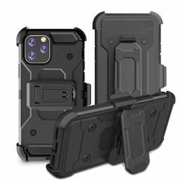 Iphone 5s holster online-Shockproof Hybrid Gürtelclip Holster Abdeckung Rüstung Defender Case für iPhone 11 Pro Max 11 XS Max XR 8 7 6 Plus 5S
