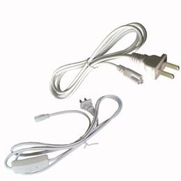 Соединители онлайн-Встроенные светодиодные трубки Кабель питания 3-контактный 12 24 48 96-дюймовый проводной разъем T8 Трубные разъемы Трубки Link