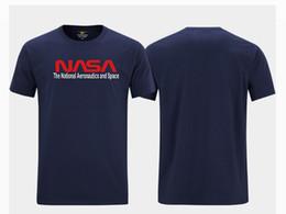 Nasa camisetas on-line-nasa manga curta Moda Crew Neck Men Hip Hop Preto T-shirt T Top Plus Size S-5XL