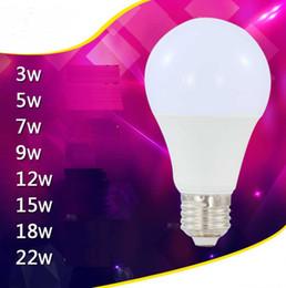 globo della lampada 18w Sconti E27 9W Lampadine LED Lampada AC 85-265V 3W 5W 7W 9W 12W 15W 18W 22W LED Spot Lampada globo bianco freddo Emissione di 360 gradi