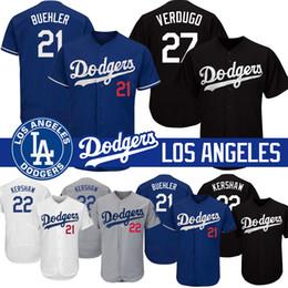 2019 trikot 27 Los Angeles Cody Bellinger Dodgers Trikots Jackie Robinson 22 Clayton Kershaw 27 Alex Verdugo 21 Walker Buehler Felx Base günstig trikot 27