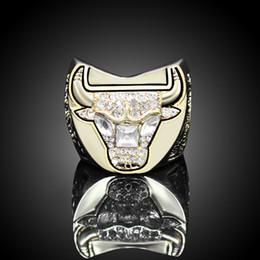 muy buenas flores Rebajas Anillo de oro chapado manera de los hombres de joyería anillo de campeonato de galvanoplastia