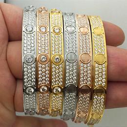 Deutschland Armband fünf Generationen Titan Stahl 18 Karat Roségold voller Diamant Star Classic Schraube Liebhaber ewiges Armband mit Schraubendreher Originalverpackung Versorgung