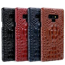 2019 caixa de nota de couro de crocodilo Casos de telefone para samsung galaxy note 9 case padrão de cabeça de crocodilo capa de couro genuíno para samsung s9 plus nota 8 s8 além de funda t190710 caixa de nota de couro de crocodilo barato