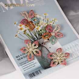 fiore di nozze che appendono i cristalli Sconti 2019 New Colorful fiore di cristallo pesce pappagallo orecchini nappa per le donne grande Boho frangiato nappa orecchini gioielli da sposa