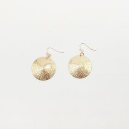 New Simple Grind Arenaceous Grandi orecchini rotondi per le donne orecchio geometrico ciondola orecchini gioielli regalo da i supporti del telefono fornitori