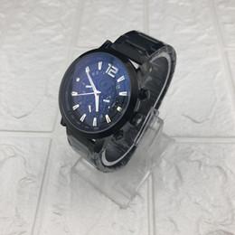 2019 temporizador más pequeño Más vendido MB Impermeable Temporizador reloj pequeño reloj para hombres 3 zonas horarias relojes de moda hombre vestido casual reloj de pulsera de cuarzo rebajas temporizador más pequeño