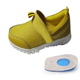 zapatos de pedicura Rebajas Cuidado de los pies Gel de silicona suave Media plantilla Zapato Pad Aumento Dolor en el talón Inserción para zapatos Plantilla ortopédica Pedicura Herramientas 1 par