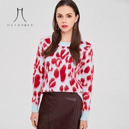 Heydress suéter de punto de leopardo sexy para mujer jersey de manga larga de invierno para mujer jersey casual de talla grande de mohair desde fabricantes