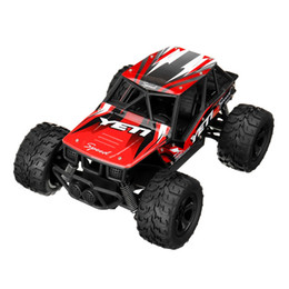 Coches de carreras todoterreno online-1/20 2.4G de alta velocidad RWD RC Car Racing Big Foot Off-truck RTR Alloy Shell Toys