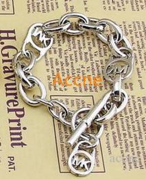 Silber armband buchstaben s online-Luxus armband männer frauen rose gold weiß mode armband brief logo armband niedrigen preis b011 / 12/29