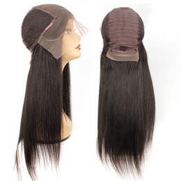 perucas de platina blonde de renda cheia Desconto KISSHAIR 13x6 rendas frontal peruca de cabelo humano natural brasileiro remy cor 8-24 polegadas peruca linha do cabelo reto de seda pré-depenado