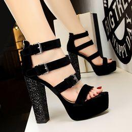 49d18f525b9 Discount super high platform sexy sandals - Sexy2019 1550-5 European Rome  Wind Paillette Coarse