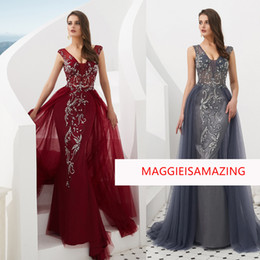 MAGGIEISAMAZING Real picture décolleté v Exposed Boning train de balayage robes de soirée robe livraison gratuite CYH02019F001 ? partir de fabricateur