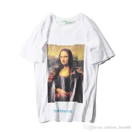 Maglietta Summer Mens Maglietta europea e americana Mona Lisa WHITE a maniche corte da uomo e donna OFF THE WALL da