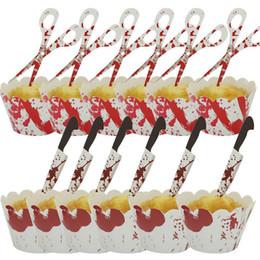 torte di halloween cupcakes Sconti Involucri e topper Cupcake di Halloween Set Pipistrello di zucca Ragno Handmake Decorazione torta fai da te Ornamento da cucina 08