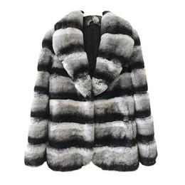 peles de coelho Desconto Brasão Natural Mulheres Fur real Chinchilla Rex Rabbit Fur Jacket com colar de couro genuíno Pelt Coelho Brasão For Girls SH190922 Fur
