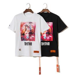 2019 padrões curtos livres 2019ss Verão T Shirt Designer de Luxo para Mulheres Dos Homens Tops Da Marca garça camisas Padrão de Manga Curta Tshirt Dos Homens Tops frete grátis padrões curtos livres barato