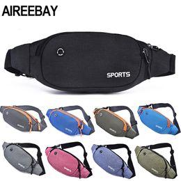 Fanny Pack Colorful Waist Bag Waterproof Travel Mobile Phone Belt Sports Money Holder Sac Banane#L3$,Red