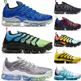 2019 zapatos olimpicos 2019 Nike Vapormax Plus Tn Rainbow Running Shoes mens Bumblebee Be True Grape Triple Black Designer Shoes Womens Sherbet Team Rojo Negro Blanco Zapatillas rebajas zapatos olimpicos