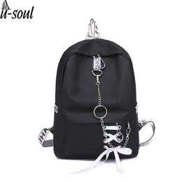 ee83cea07c67 Women Pure Color Backpack Casual Shoulder Bag Students Schoolbag For  Teenage Girls Backpack Solid Black Vintage Travel Gifts
